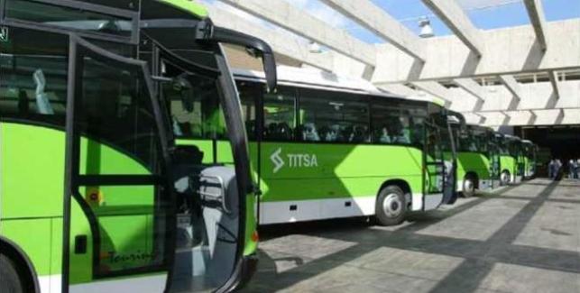 Resultado de imagen de TITSA aplicará el cambio de hora en sus servicios a partir de la 5:00 del domingo
