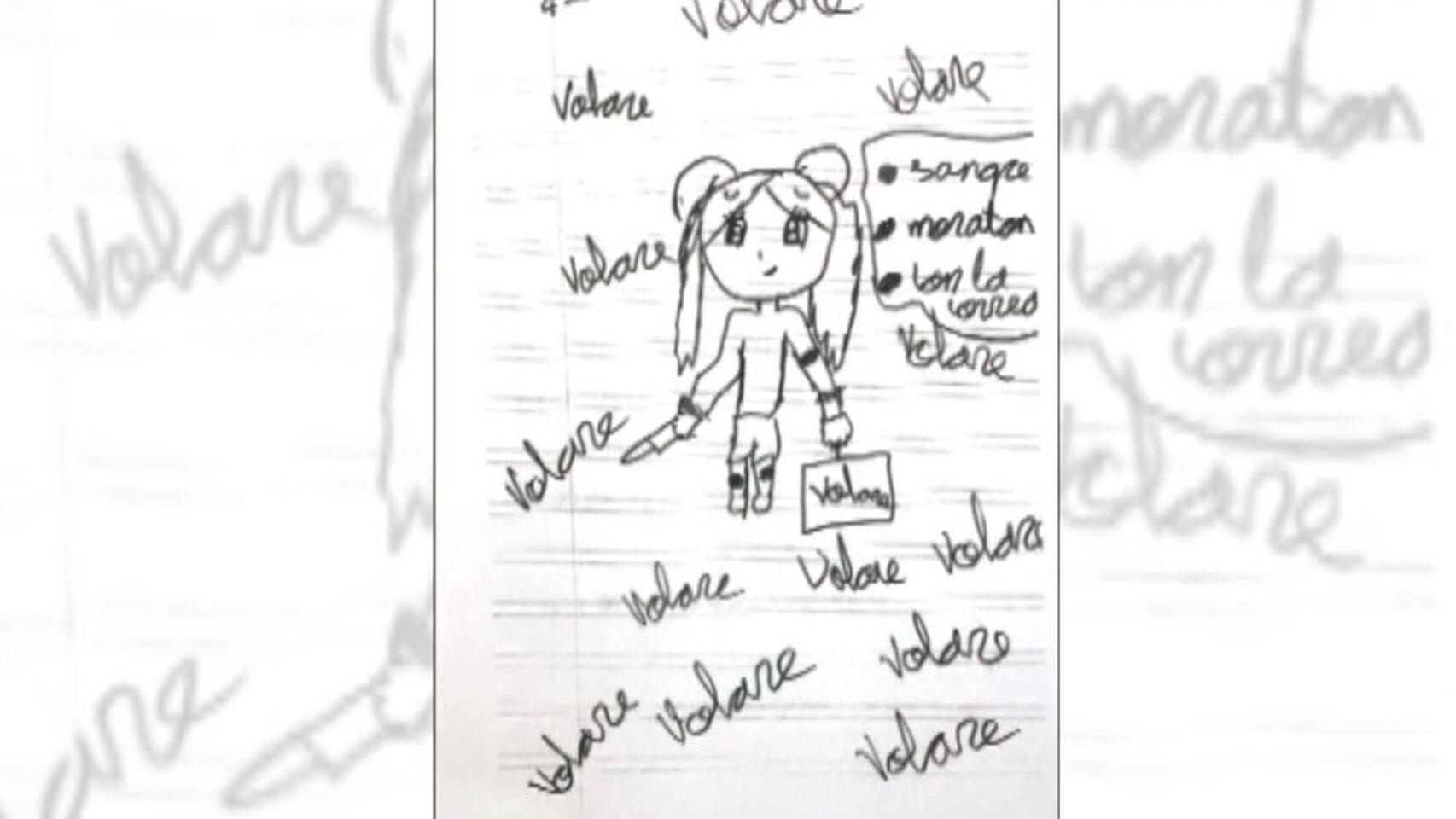 Dibujo de la niña. El Español