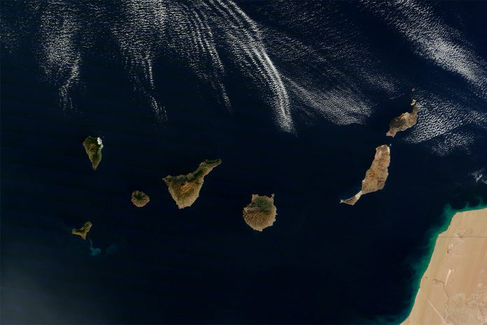 VISTA SATÉLITE CANARIAS. NASA