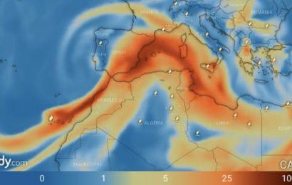 La nube de cenizas y dióxido de azufre de La Palma llegará mañana a la Península