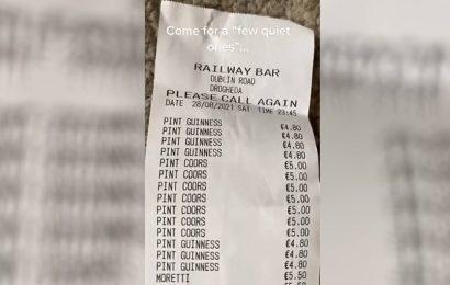 """La interminable factura de unas amigas que salieron a beber """"una cervecita"""""""