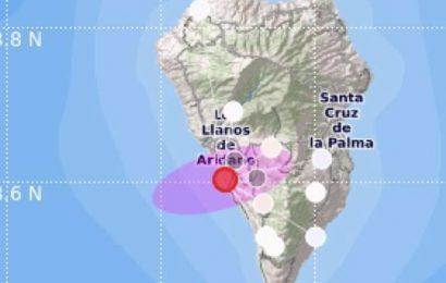 Registrado un fuerte terremoto de 4'8 grados en La Palma, el mayor hasta el momento
