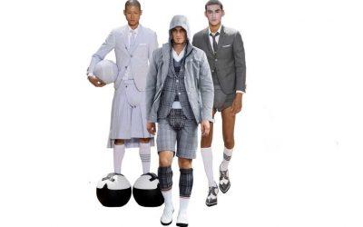 Thom Browne viste traje de chaqueta