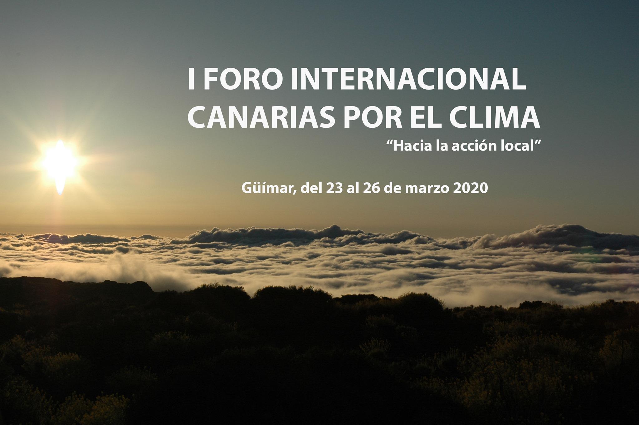 Tenerife acoge el primer Foro Internacional Canarias por el Clima.