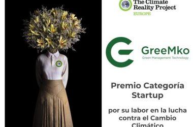 La empresa canaria GreeMko, premiada como la mejor startup del año en la lucha contra el cambio climático.