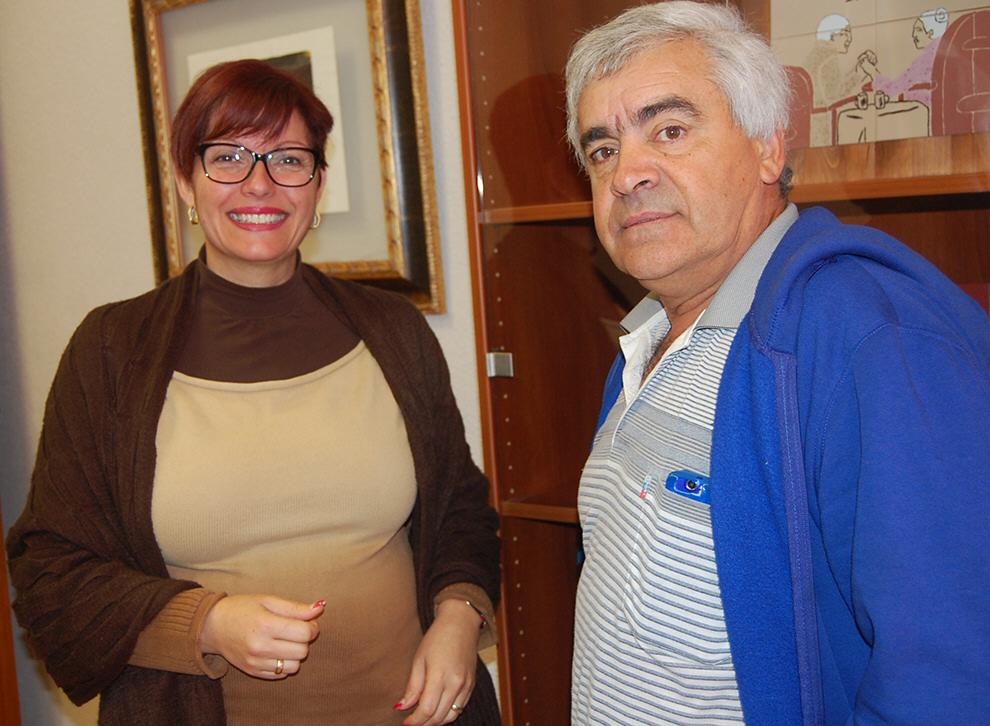 Joseito y la concejal  de Deportes de Arafo, Natacha Marlene Afonso. /DA