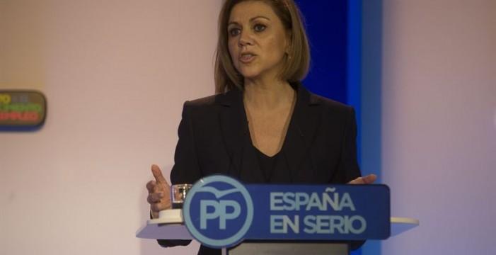 Cospedal dice que seguirá como secretaria general tras el próximo congreso del PP