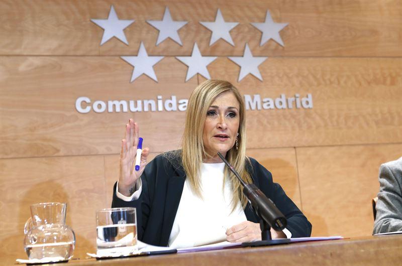 Cristina Cifuentes presidenta de la Comunidad de Madrid por el Partido Popular