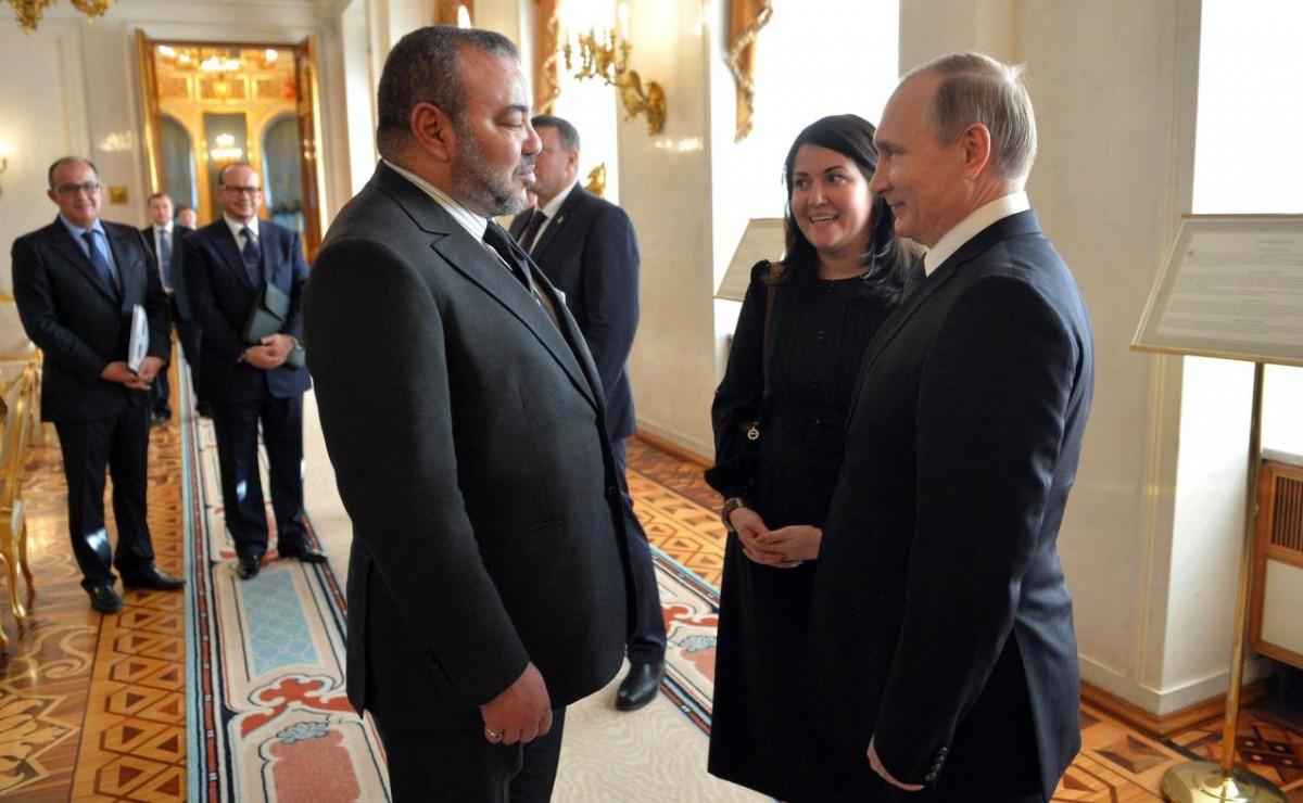 Imagen del encuentro entre Mohamed VI y Vladimir Putin, hace una semana en Moscú. DA