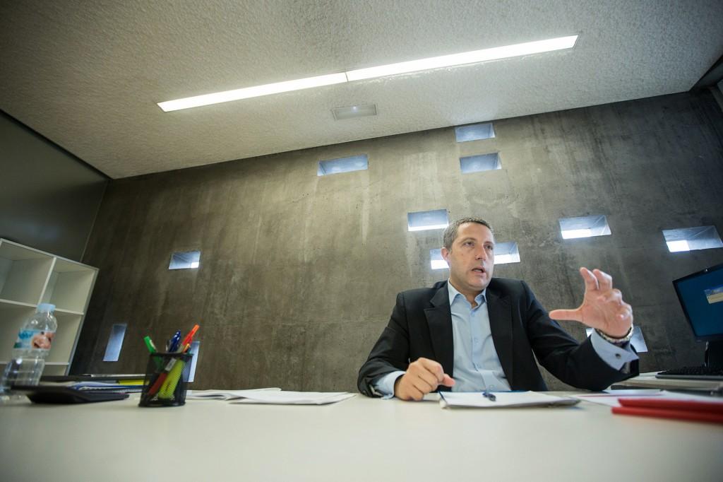 El director insular de Cultura, José Luis Rivero, en su despacho en TEA.