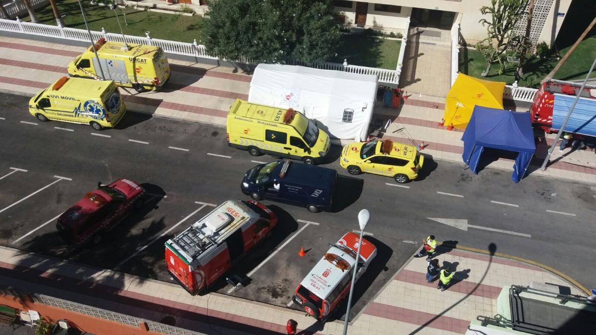 Recuperan el sexto cadáver en el derrumbe de Los Cristianos