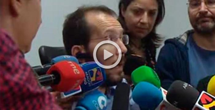 """Echenique critica que el Gobierno """"continuista"""" de Rajoy realizará """"la misma política"""""""