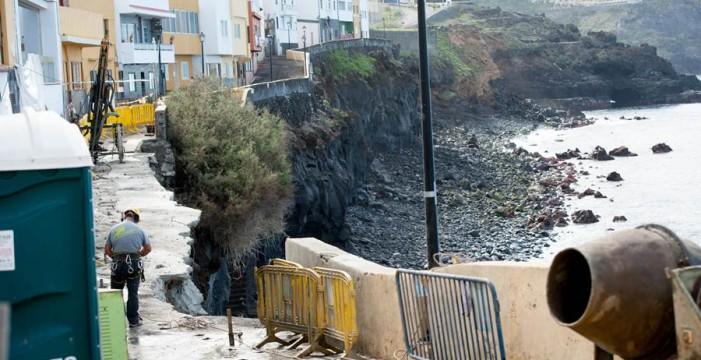 Las obras de remate de la  ya apuntalada calle Tegueste empiezan esta semana