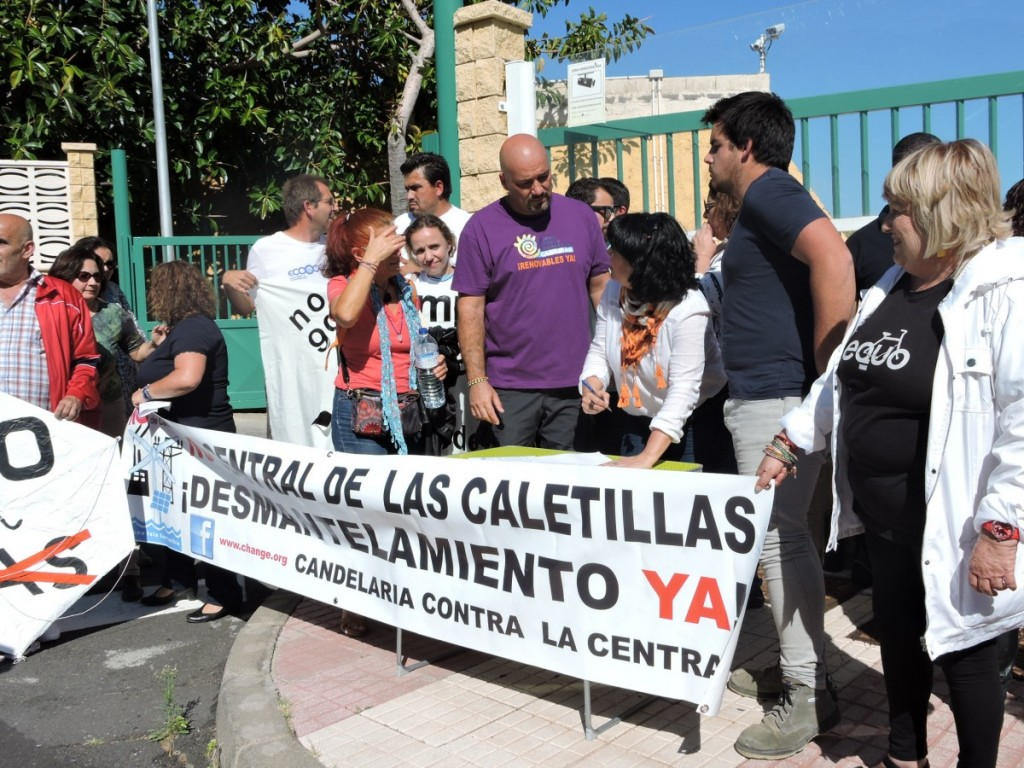Los declarantes firmaron el manifiesto que entregaron en la central de Las Caletillas / NORCHI