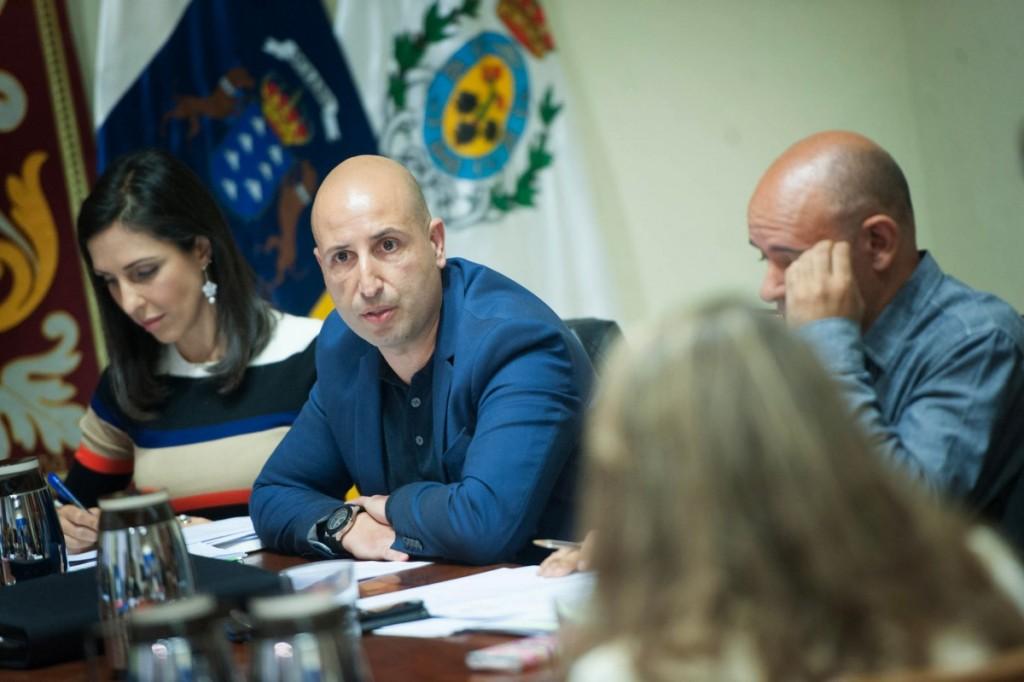 El director general de Servicios Públicos, Domingo Cabrera, ayer, en la comisión de control. / F. P.