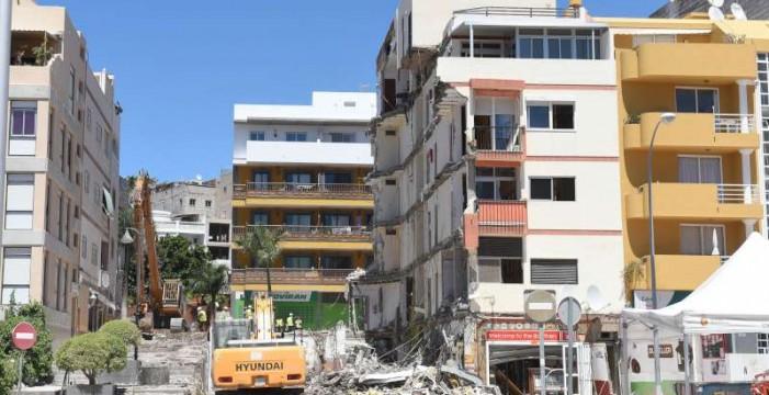 La Fiscalía descarta la vía penal en el derrumbe del edificio de Los Cristianos