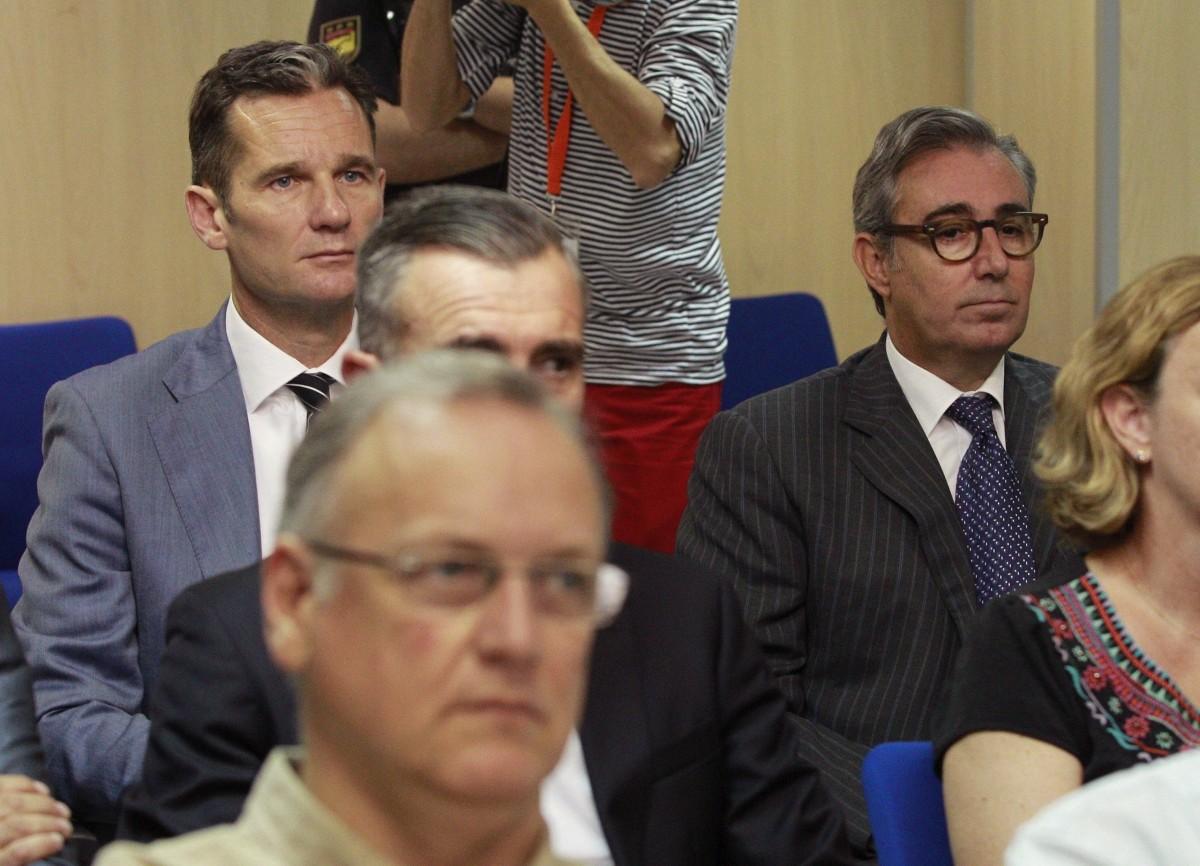 Urdangarín y Torres durante el jucio del caso Nóos