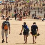 26-06-2016 santa cruz de tenerife dia de elecciones generales 26J imagen de la playa de las teresitas a ls 12.00