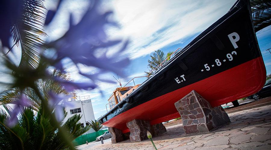Falúa Práctico nº1.  El primer barco de los prácticos del puerto, se construyó en 1945. / A. G.