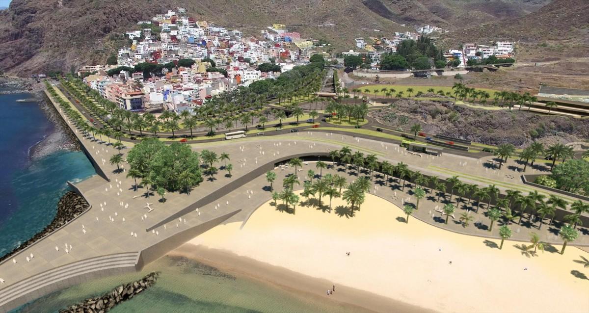 La nueva Playa de Las Teresitas / FOTO: AYUNTAMIENTO SANTA CRUZ