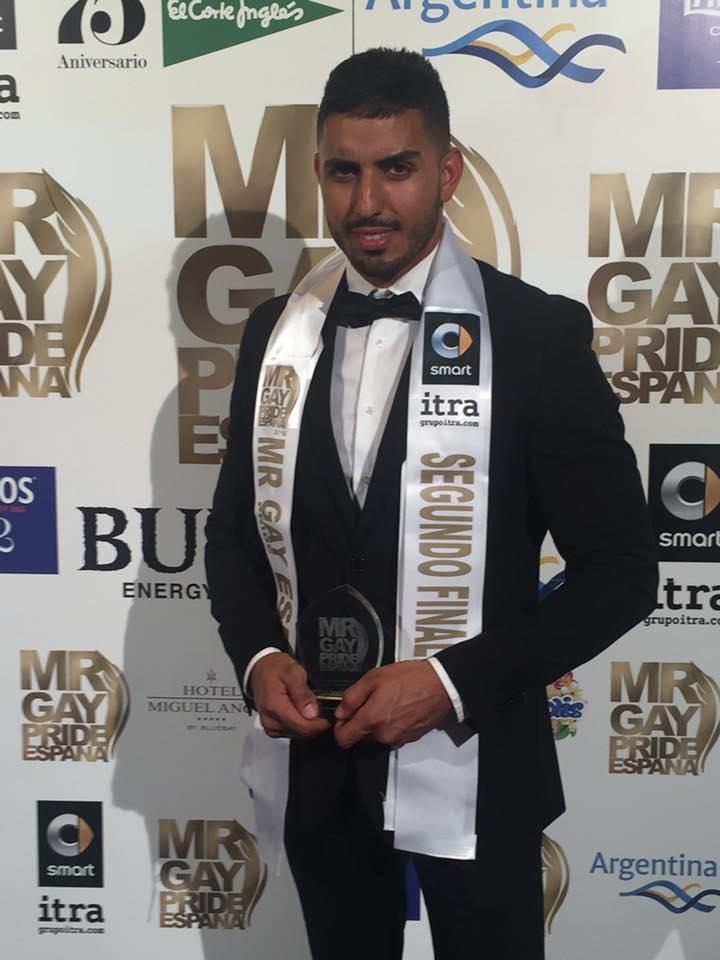 Ismael Kamal, Mr. Gay Pride Maspalomas y segundo finalista en Madrid. | MrGayEspaña