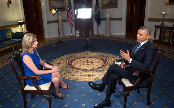 Imagen de archivo de María Rozman durante una entrevista al presidente de EE. UU. Barack Obama. / DA