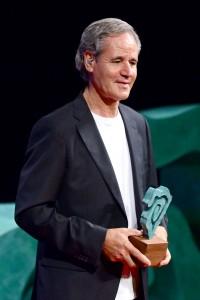 Recogiendo su premio Taburiente. | SERGIO MÉNDEZ
