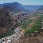 Vista áerea del barranco de Las Angustias y su entorno, en La Palma: / J.C. D. L.