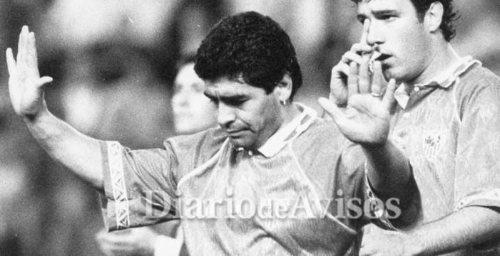 Maradona y Redondo, el día que hubo un 'desafío de dioses' en Tenerife