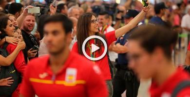 Recibimiento olímpico a nuestros deportistas en Barajas