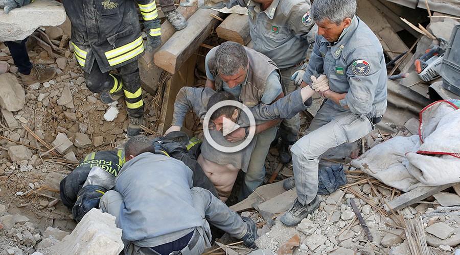 Más de 60 muertos en un terremoto de 6,2 grados en el centro de Italia