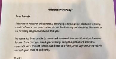 Los deberes que una profesora impuso a sus alumnos arrasan en las redes