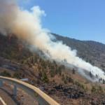 Imágenes del incendio forestal en La Palma.   DA