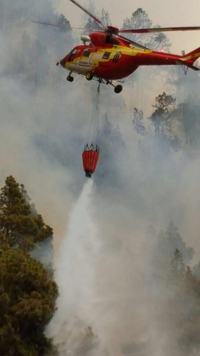 Imágenes del incendio forestal en La Palma. | DA