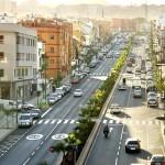 La avenida de Los Menceyes, en La Cuesta, una de las principales vías del municipio. / DA