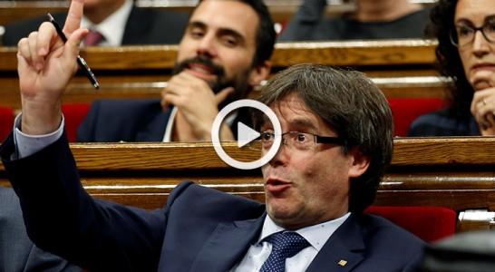 Puigdemont supera la cuestión de confianza gracias a la CUP