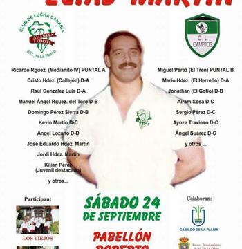 Interesante cartel en el I Memorial Elías Martín