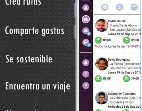 Conoce la 'app' para fomentar el coche compartido entre alumnos y personal de la ULL