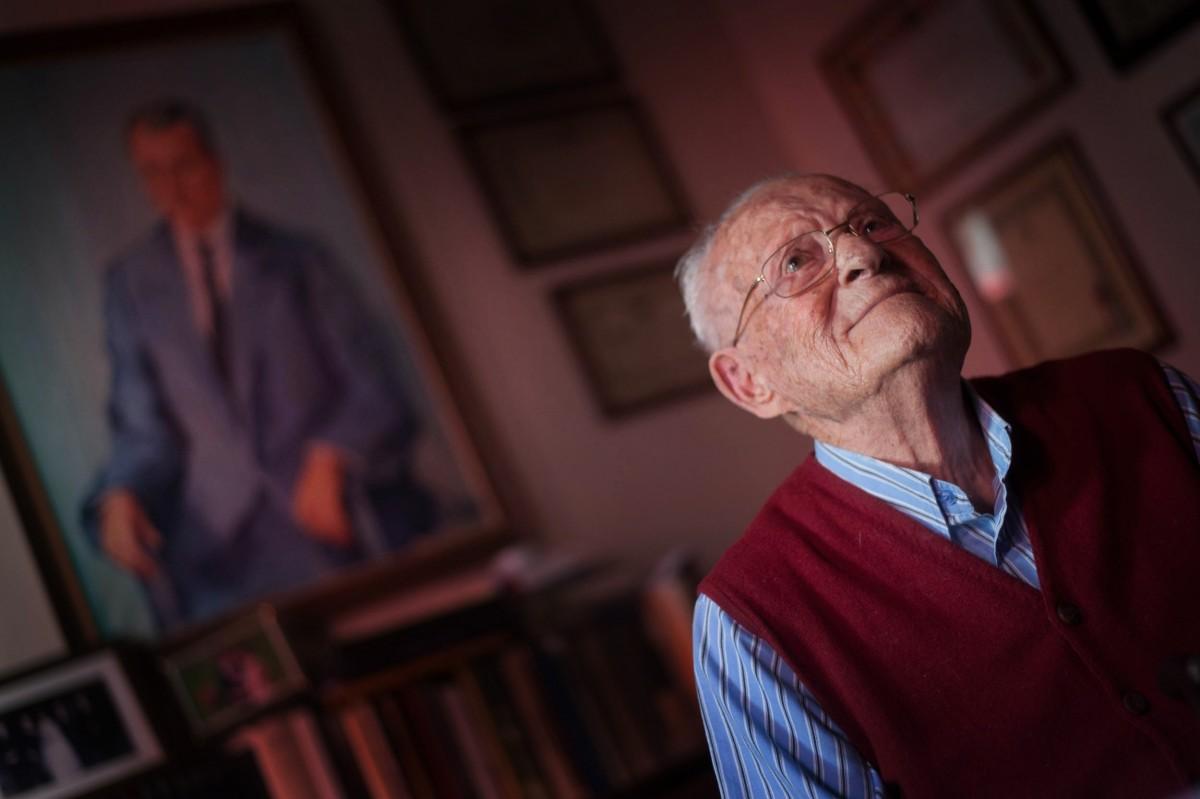Leoncio Afonso, que cumple 100 años | FOTO: FRAN PALLERO