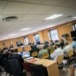 Vista general de la sala durante la declaración del empresario Amid Achí, ayer,  en el Palacio de Justicia                     de Santa Cruz de Tenerife. ANDRÉS GUTIÉRREZ