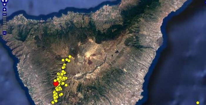 Involcan estima que el domingo hubo más de 400 microsismos en Tenerife de origen volcánico