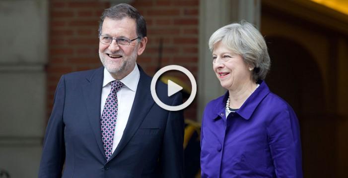 Rajoy y May mantienen su primer encuentro tras el brexit, Gibraltar y Escocia temas centrales