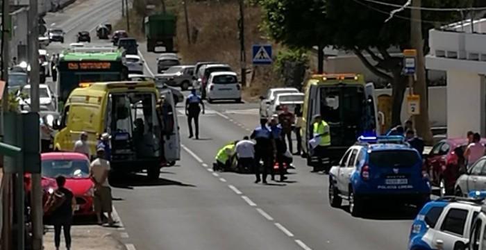 Un motorista fallece tras chocar contra un turismo en La Laguna
