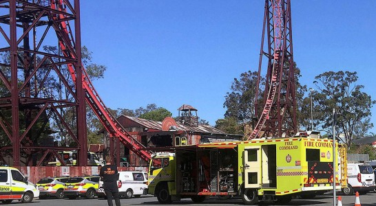 Cuatro muertos en un accidente en un parque de atracciones en Australia