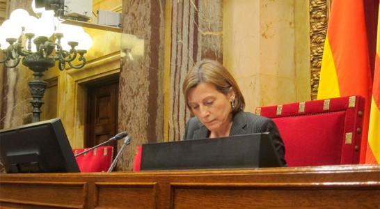 El TSJC investiga a Forcadell por desobediencia al TC desde el Parlament
