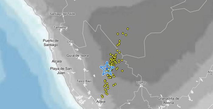 Tenerife registra hasta 92 microsismos en cuatro horas en Adeje y Vilaflor
