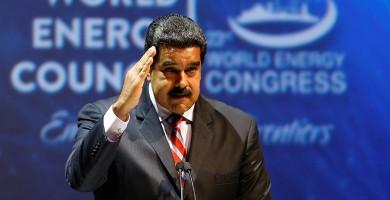 Venezuela's President Nicolas Maduro makes a speech during the 23rd World Energy Congress in Istanbul