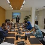 Los representantes de las multinacionales se reunieron con más de 20 empresarios de las Islas. DA