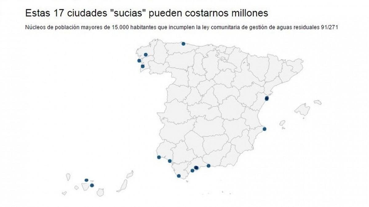 Las 17 ciudades 'guarras' de España / EL ESPAÑOL