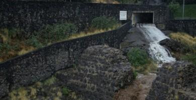 El agua baja por el Barranco de Santos tras las lluvias en Santa Cruz | Foto de Archivo (Andrés Gutiérrez)